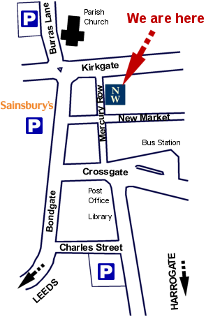 Where to find Newstead & Walker, Solicitors in Otley, Leeds, West Yorkshire